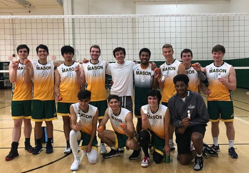 George Mason University's men's club volleyball student-athletes