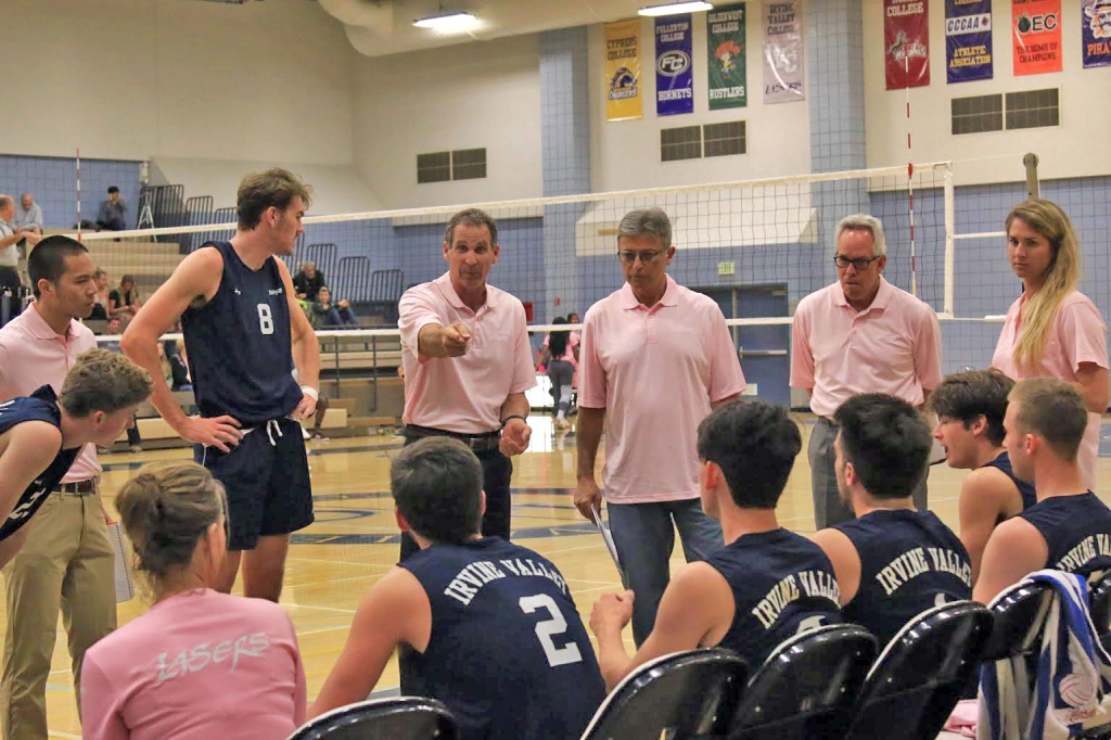 IVC Lasers Men's Volleyball Team Time Out